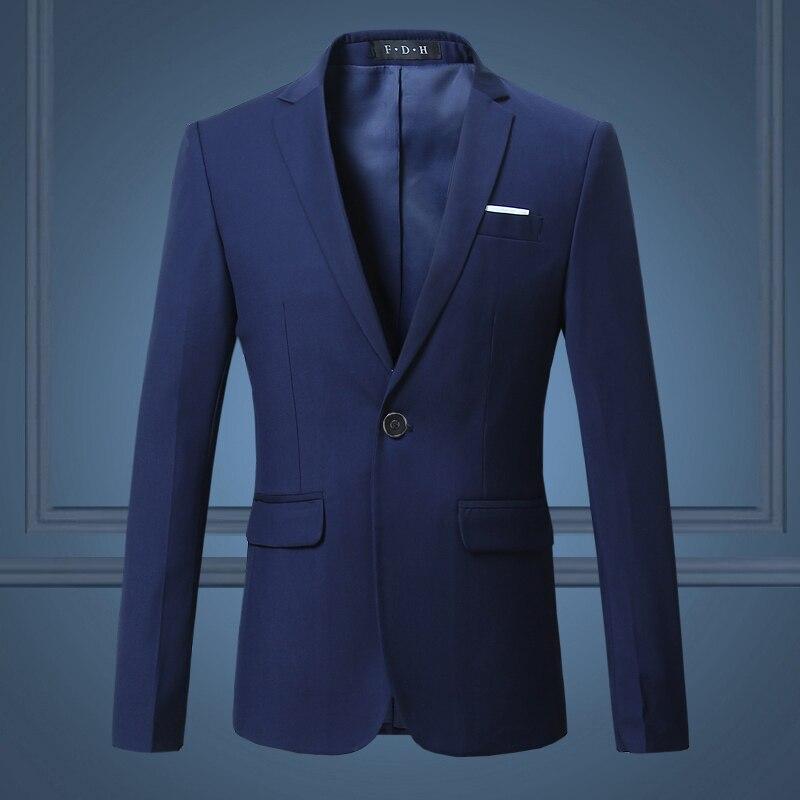 Black Classy Men's Blazers Jacket One Button Slim Fit Wedding Suit Mens Casual White Blazers Coats Customizable Big Size 6XL 5XL 2