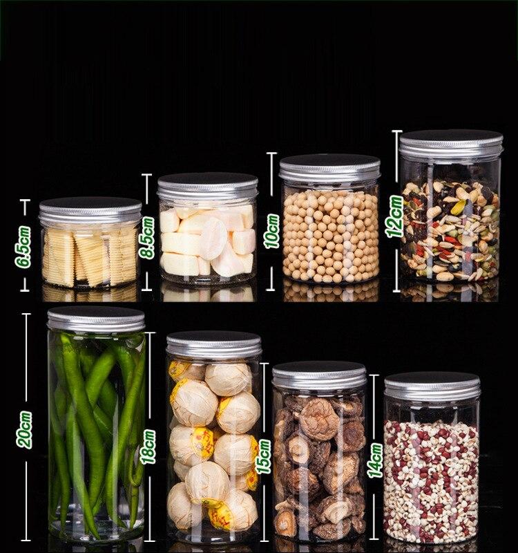 Storage Tank Transparent Plastic Bottle Custom Food Sealed Jar Flower Tea Biscuit Packaging Jar Honey