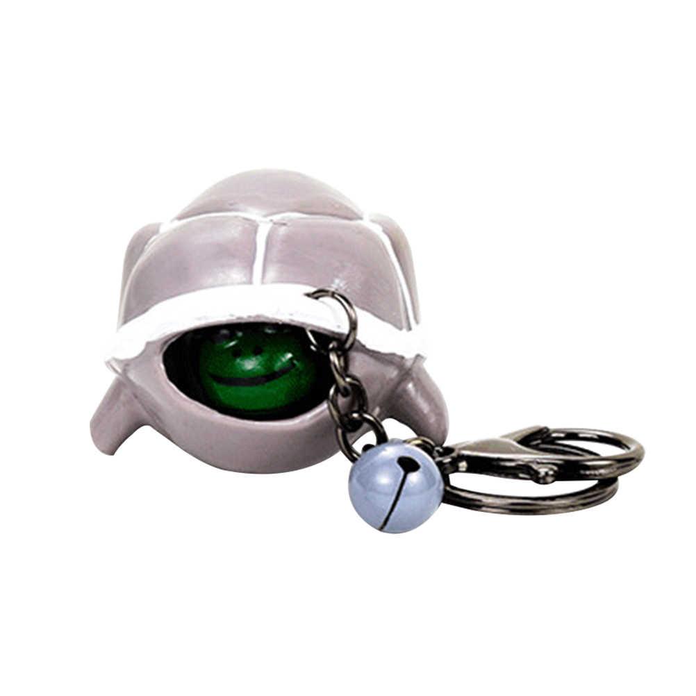 เต่าขนาดเล็ก Key CHAIN Telescopic HEAD Turtle Key CHAIN จี้ Funny Keyring Key แหวนทาสีเต่าสีสุ่ม