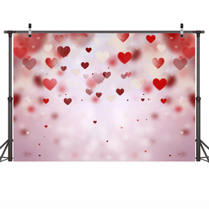 Image 5 - 발렌타인 데이 사진 배경 로맨틱 장면 웨딩 사진 배경 꽃 레드 로즈 하트 사랑 Photocall Photophone