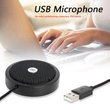 USB micrófono omnidireccional micrófono altavoz micrófonos Video y sonido Conferencia USB recargable reunión para PC PS4