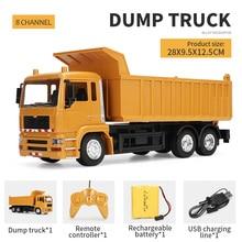 RC Cars Toys Truck Model Dump-Truck Transporter Rc-Engineering Children for Boys Xmas/birthday-Gifts