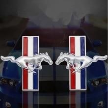 3D metalowy samochód naklejki Mustang biegnący koń Fender boczne godło naklejana etykieta ford Mustang shelby GT tylny bagażnik naklejka Car Styling