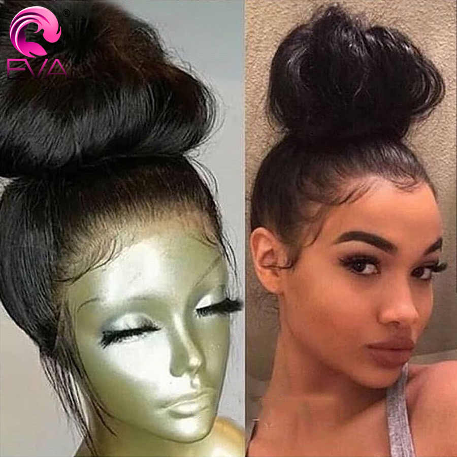 Eva Hair 13x6 Lace Front Human Hair Wigs Pre Plucked With Baby Hair Brazilian Remy Hair Straight Lace Front Wigs For Black Women