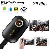 Chromecast G9 Più 5G 4K Wireless HDMI Android IOS Airplay Ricevitore tv stick Miracast Dongle Wifi Dello Schermo Dello specchio streamer DLNA