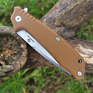 Image 5 - Ball Bearing Folding Knife D2 Blade G10 Handle Camping Hunting Survival Knives Pocket Outdoor Knife EDC Tool with Waist Clip