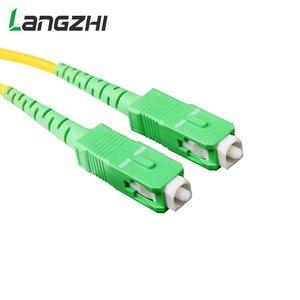 Image 3 - 10 sztuk/worek Sc Apc 3m Simplex tryb światłowodowy kabel krosowy Sc Apc 2.0mm lub 3.0mm włókien światłowodowych Ftth kabel Jumper