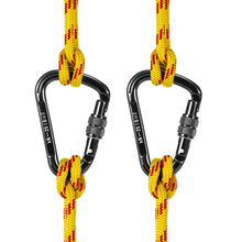 2PCS 25KN D-shape Quick Clip Screw Auto Locking Gate Carabiner Snag Free Clip Backpacking Rappelling Climbing Equipment цена