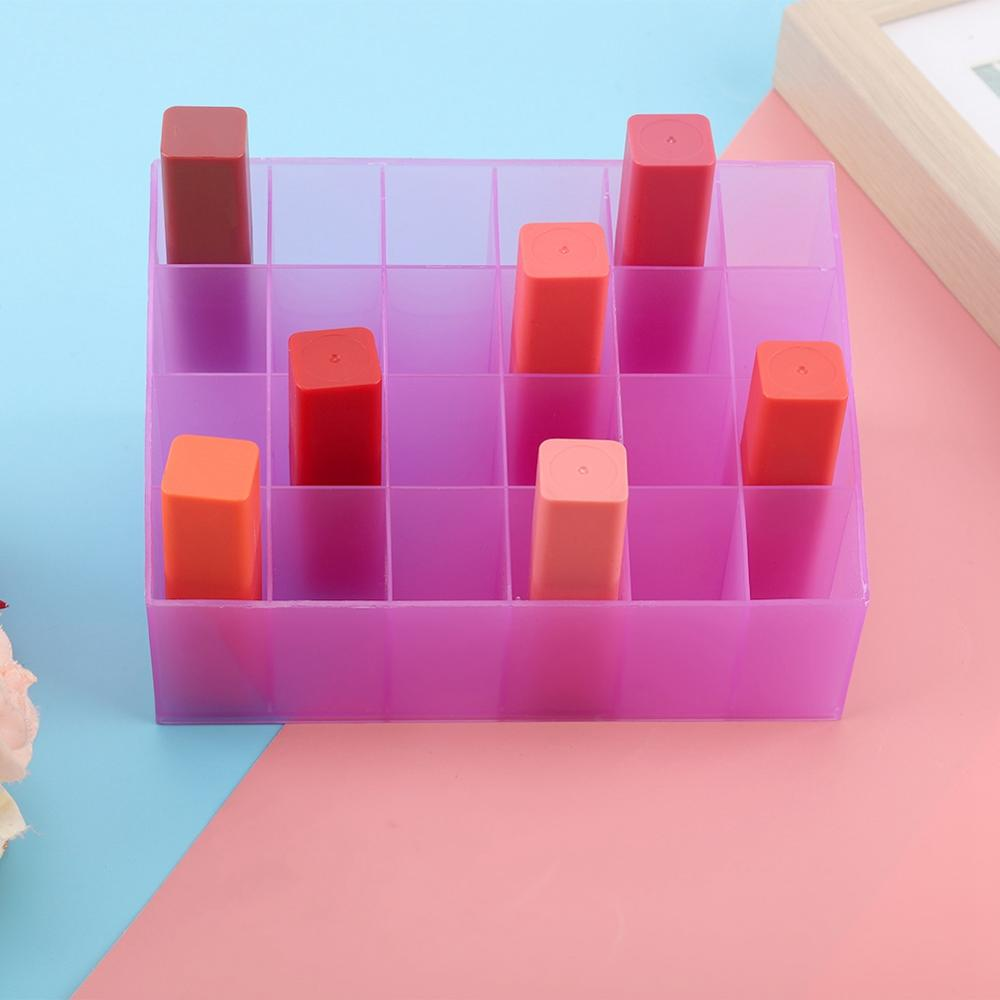 24 Grid Acrylic Transparent Makeup Organizer to store Lipstick and Nail Polish along with Other Skin Care Products of Women 5
