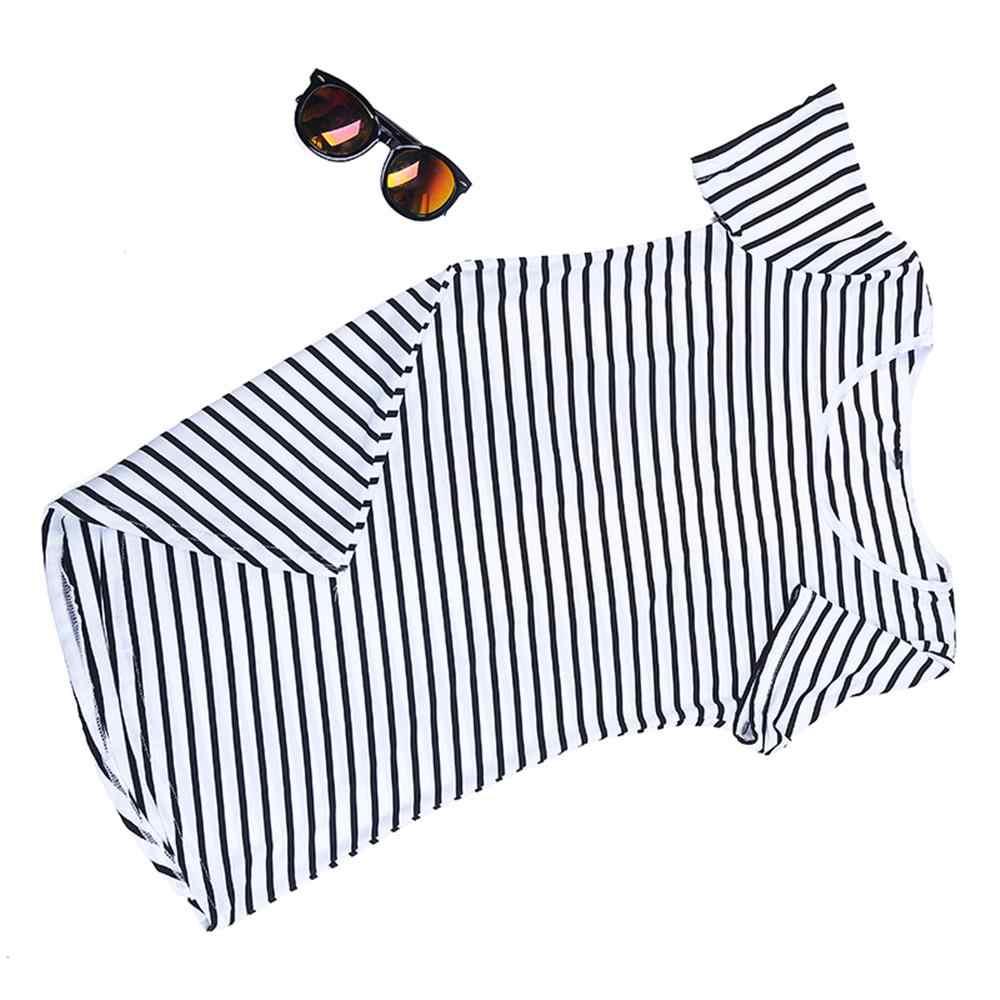 2019 été col rond femmes robe noir blanc rayures imprimé robe Chic fête manches courtes robes tenue décontracté