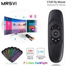 MRSVI C120 תאורה אחורית 2.4G Wireless אוויר עכבר מיני מקלדת עבור אנדרואיד טלוויזיה חכמה תיבת Windows מחשב מחשב שלט רחוק