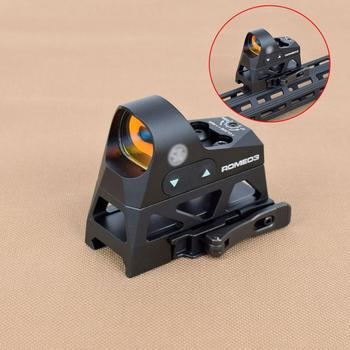 Tactical ROMEO3 1x25 Mini Reflex Sight 3 MOA Dot Reticle With Picatinny QD Mount For Rifles Carbines Hunting Red Dot Sight Scope tactical 1x red dot sight scope 3x magnifier with picatinny rial side flip mount base tan m1243