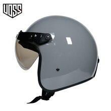 Moto rcycle capacete do vintage moto rcycle capacete3/4 aberto rosto capacete chopper vintage cascos para moto