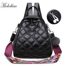 Mododiino Women Shoulder Bag Backpack Leather Crossbody Diamond Lattice Mini Lady Backpacks DNV1170