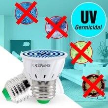 Е27 УФ бактерицидные лампы E14 светодиодные УФ обеззараживанием ультрафиолетового света GU10 MR16 тип В22 2835 стерилизатор Озона Amuchina