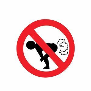 Image 1 - Su geçirmez Hiçbir Osuruk Araba Sticker Komik Eşek PVC Araba çıkartma Uyarı Işareti 12*12cm