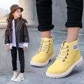Kinder Schnee Stiefel Neue Mädchen Stiefel Herbst Winter 2019 Jungen Plüsch Baumwolle Stiefel Fashion Lace Up Kinder Stiefeletten turnschuhe-in Stiefel aus Mutter und Kind bei