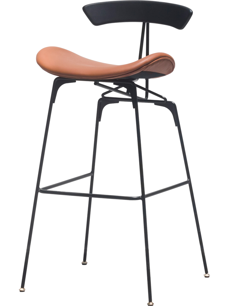 Iron Bar Chair, Northern European Industrial Ant   Modern Simple High Stool, Home Back  Chair