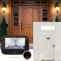 4.3 Inch HD Smart Motion Detector belldoor Home Photoelectric Viewer motion sensor bell wifi doorbell