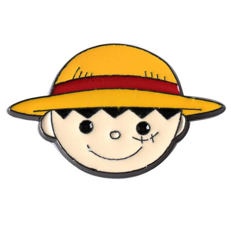 Anime Nhật Bản Một Mảnh Đầu Lâu Hợp Kim Thổ Cẩm Thời Trang Cá Tính Mới Lạ Ngộ Nghĩnh Denim Phối Áo Sơ Mi Nam Nữ Pin Huy Hiệu Trang Sức Quà Tặng