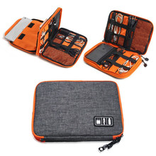 Sac de rangement en Nylon de haute qualité à 2 couches pour accessoires électroniques de voyage, sac de transport de Gadget de voyage, taille parfaite pour iPad
