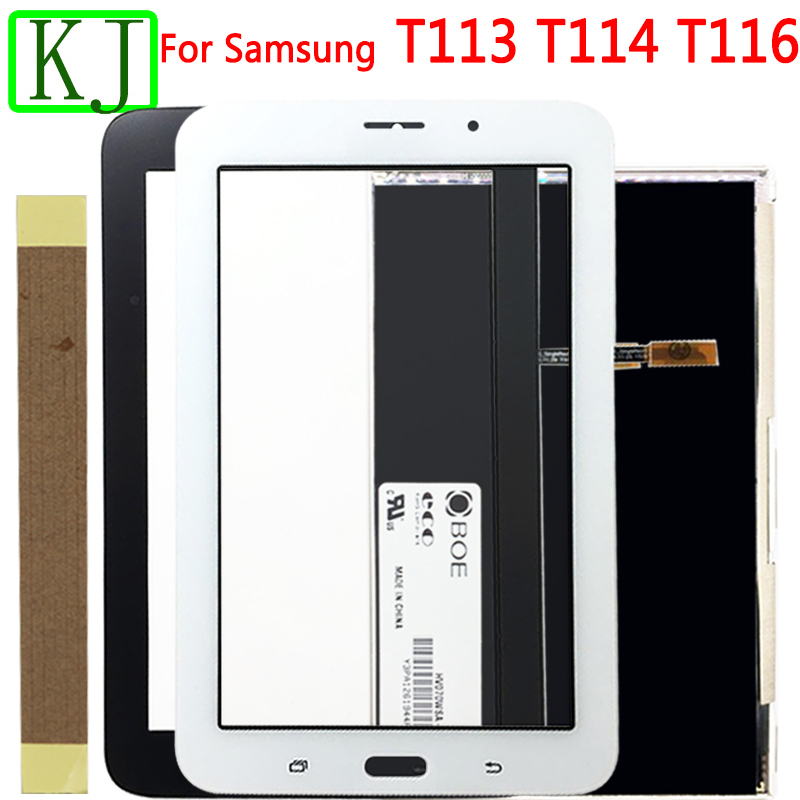 For Samsung Galaxy Tab 3 T110 T111 T113 T116 T114 LCD Display + Touch Screen Panel Glass Sensor Digitizer