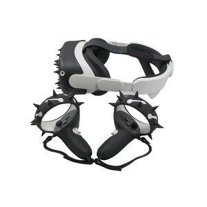 Image 2 - الغطاء الواقي VR شل ل كوة كويست 2 تحكم السيطرة يغطي سيليكون واقي الوجه ل كوة كويست 2 الملحقات
