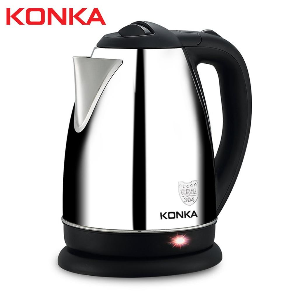 1.8L Stainless Steel Electric Water Kettle High Power Electric Kettle With Safety Auto-off Function Quick Electric Boiling Pot