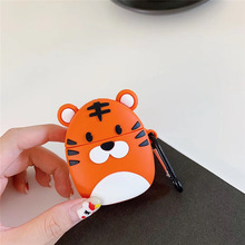 For AirPod 2 Case 3D Lovely little Tiger Cartoon Soft Silicone Wireless Earphone Cases Apple Airpods Cute Cover Funda