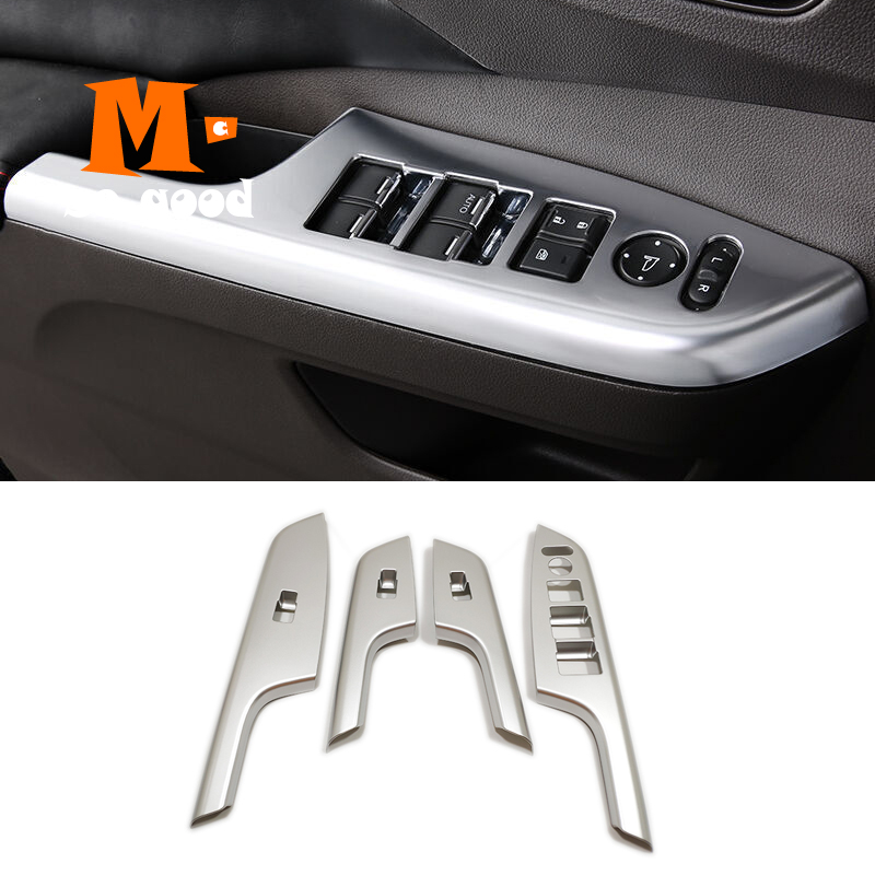 2012 13 14 15 2016 для Honda CRV фотоэлемент подлокотника двери окна переключатель панели крышки отделки ABS матовые аксессуары для стайлинга