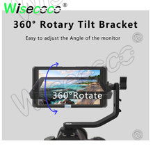 5.0 inch camera monitor FHD 1080*1020 IPS 360 degree rotation HDMI input  output real-time image