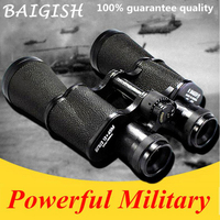 High Power HD Binoculars ALL Metal Military Binocular Lll Night Vision Telescope Wide angle Pocket Zoom Russian Baigish 20X50