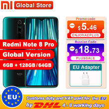 Globale Versione Xiaomi Redmi Nota 8 Pro 6GB 64GB /128GB Smartphone 64MP Quad Camera Helio G90T octa Core 4500mAh NFC(China)