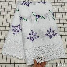 Новое поступление швейцарская вуаль с вышивкой 2020 африканская кружевная ткань с бусинами хлопковая ткань швейцарская Вуаль в Sitzerland для пла...
