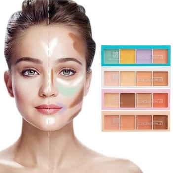 4 Color Makeup Concealer Full Cover Acne Spots Dark Circles Concealer Powder Face Corrector Long Lasting Base Cosmetic TSLM1 1