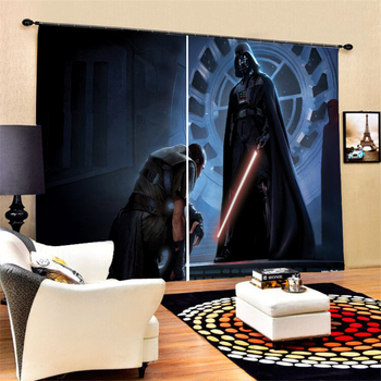 Stars Wars Home Decor Window Curtains 2 Panels 3D Print Movies Figure Blackout Curtains for Bedroom Living Room
