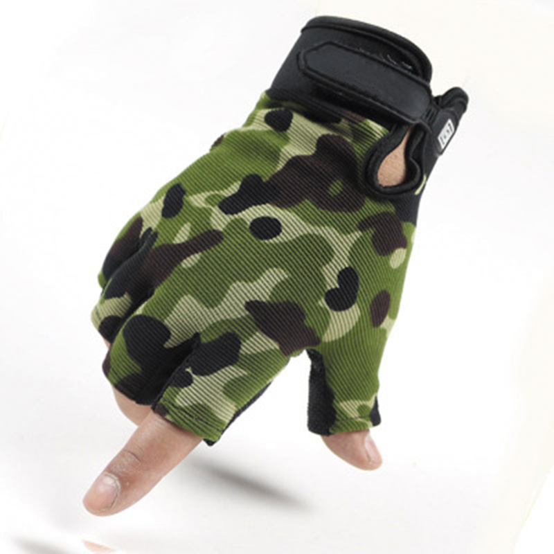 Camouflage Fingerless Tactical Gloves Men Women Military Army Bicycle Lightweight Breathable Anti-Slip Men's Fingerless Gloves