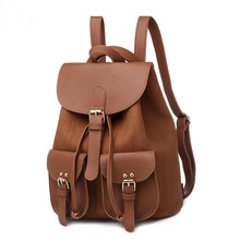 JUILE Fashion Travel Leather Women Backpack Female bag simple student School high quality casual teen girl Shoulder Bag