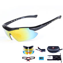 Polarized Cycling Sun Glasses Men Women Bike Sunglasses Outdoor Sports Bicycle Wind Protection Goggles 5 Lens