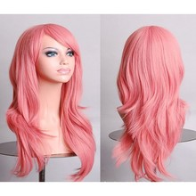 New Long Wavy Hair Heat Resistant Cosplay Wig for Women Curly Synthetic Wigs