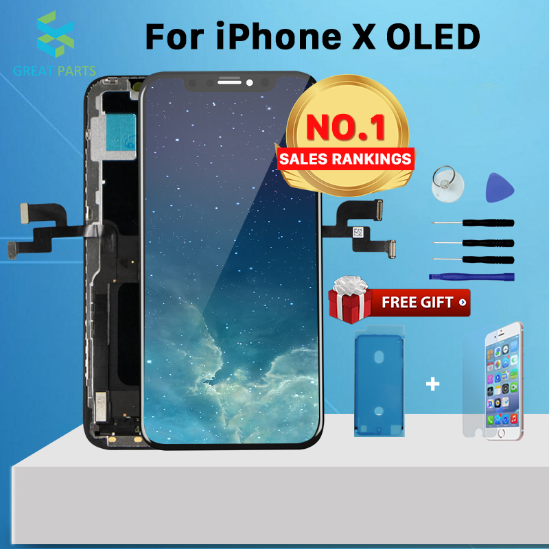 AAA+ For iPhone 7 8 X XS XR XS Max Incell LCD Oled Display Touch Screen Assembly Replacement Good 3D touch