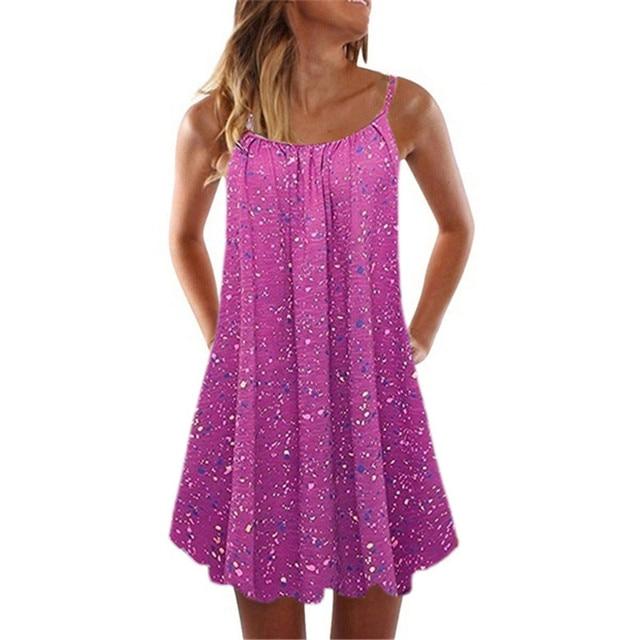 Loose Beach Dress With Spaghetti Straps 6