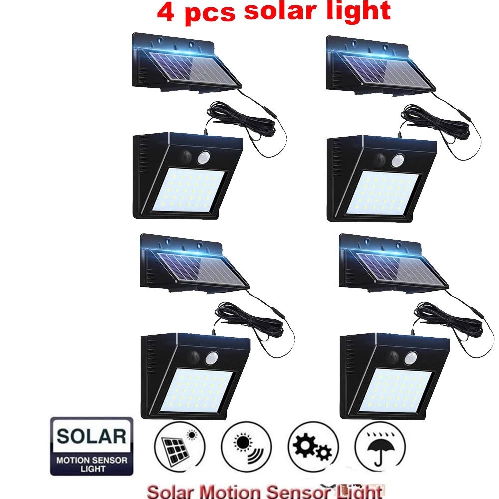 2/4pcs Led Solar Light Waterproof Lighting For Outdoor Garden Lighting 100/56/30 Leds Four Modes Rotable Pole Solar Lamp Split M