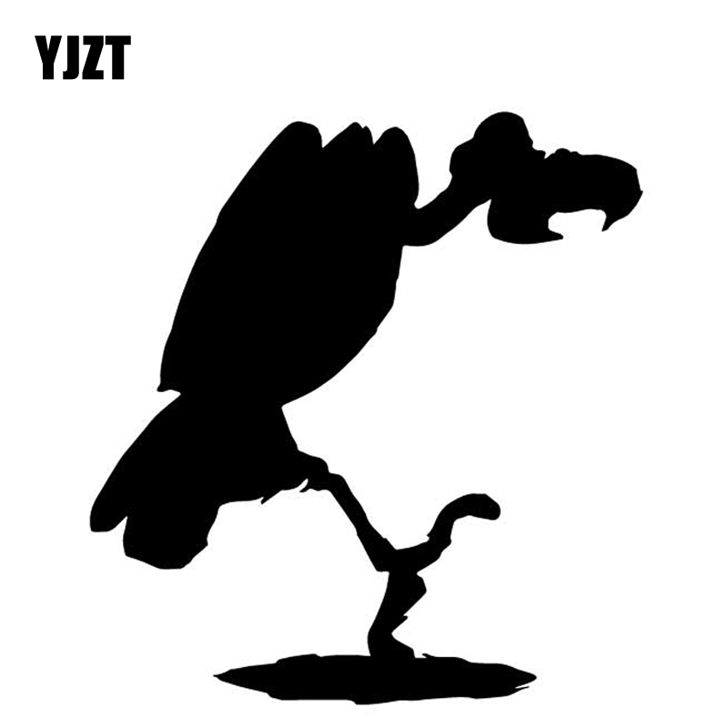 YJZT 14.8CM*15.9CM Vultures Pattern Decoration Vinyl Decal Car Trunk Car Stickers Black/Silver C4-2921