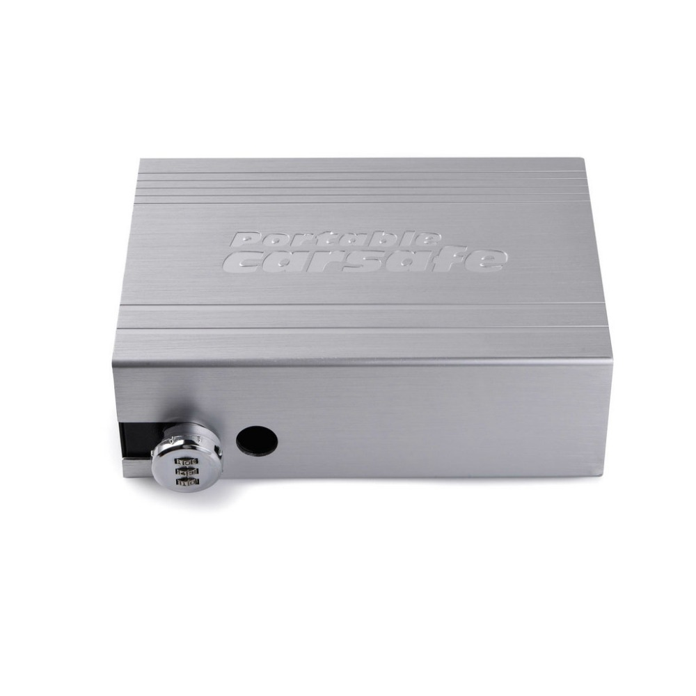 Car Safes Portable Safe Box Password Lock Safes Jewelry Cash Pistol Storage Box Aluminum Alloy Security Strongbox Cable Fixed