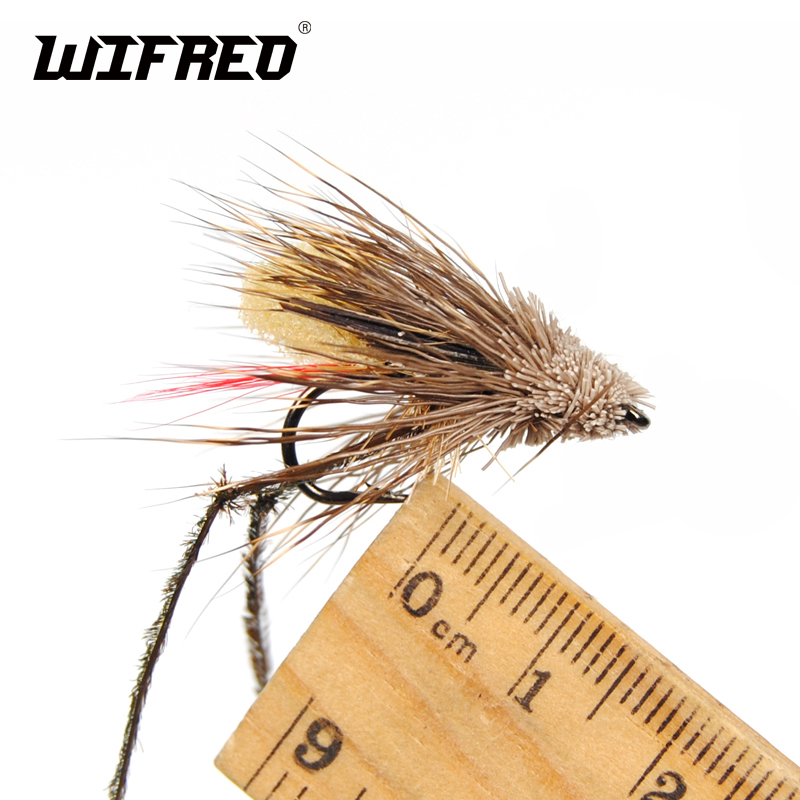 6 x Brown /& Yellow Grasshoppers Grasshoppers Fishing Flies Trout Flies