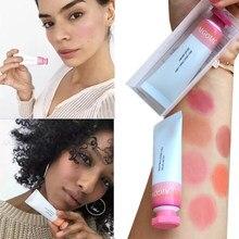 Blush líquido cosméticos blush gel cremoso rouge 6 cores de longa duração natural bochecha blush rosto contorno maquiagem pêssego