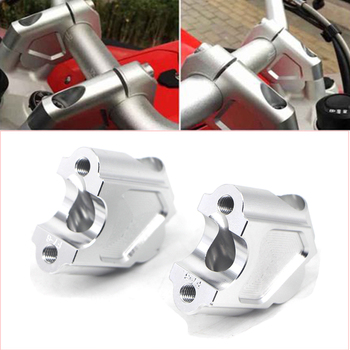 Motorcycle CNC Handle Bar Clamp Raised Extend Handlebar Mount Riser Raiser For BMW F700GS F650GS F700 600 GS 22MM Aluminum Alloy for bmw f800gs 2008 2017 2016 laser logo f800 gs motorcycle accessories handle bar clamp raised extend handlebar mount riser