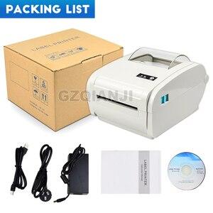 Image 5 - 4 дюйма Термальность принтер этикеток с высоким Скорость 160 мм/сек., включающим в себя гарнитуру блютус и флеш накопитель USB для печати Стикеры/принтер для печати этикеток