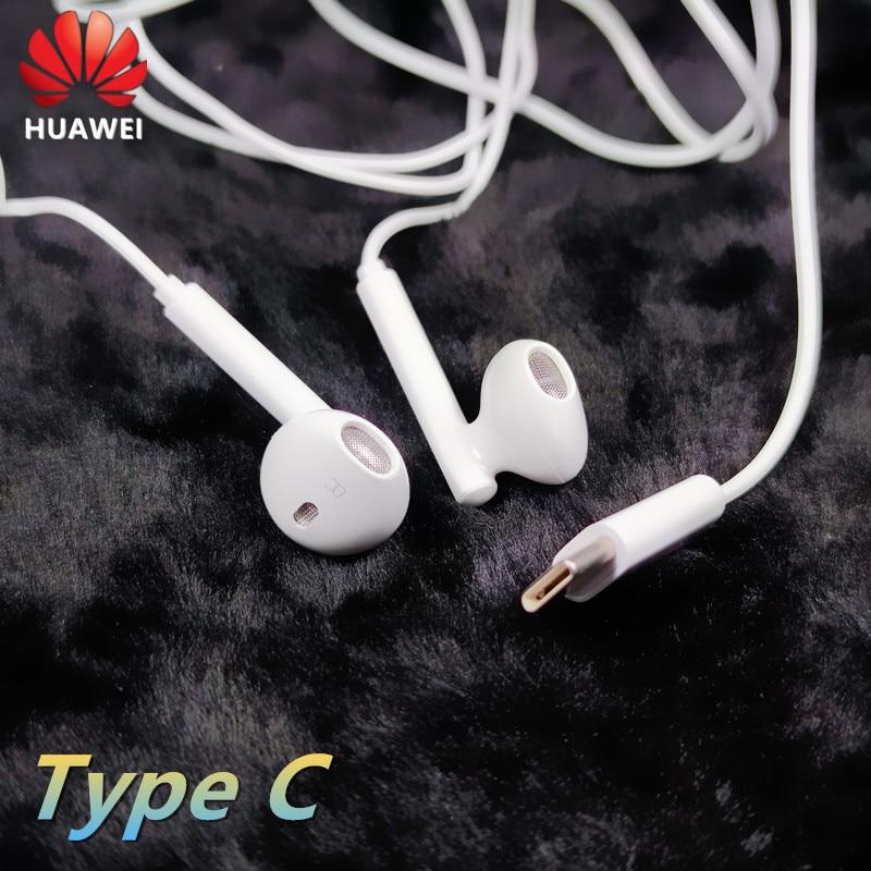 Оригинальные наушники Huawei CM33 USB Type-C, проводные наушники-вкладыши с микрофоном и регулятором громкости для huawei P40 Mate 10 Pro P20 Por P30 LITE